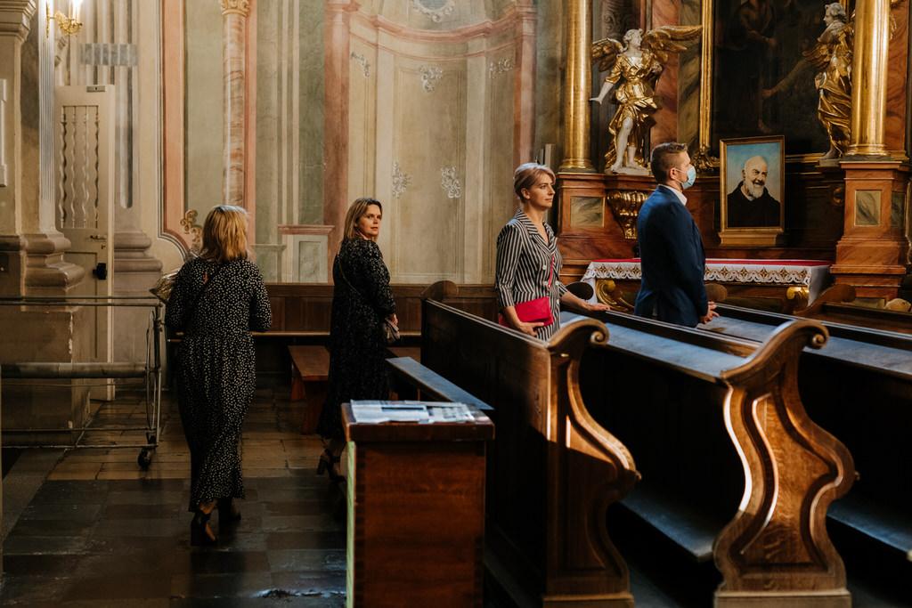 ślub na warszawskiej Starówce kościol św Anny