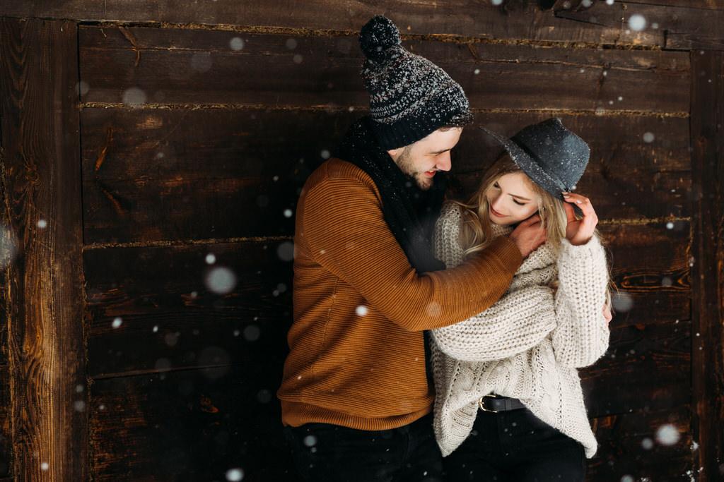 zimowa sesja narzeczeńska warszawa fotograf ślubny warszawa goczkowski górecka fotografia